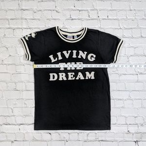 Junk Food Clothing Tops - Junk Food Disney Mickey Mouse Living The Dream Tee